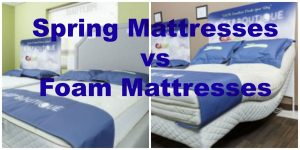 Memory Foam vs Spring Foam Mattresses